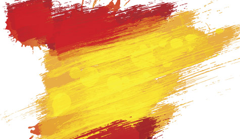 Spanish flag colours in paint